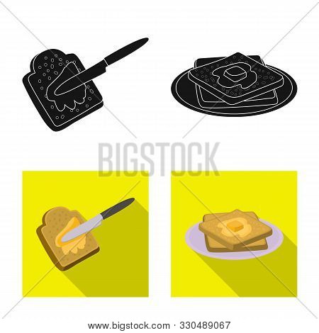 Vector Illustration Of Creamy And Product Icon. Collection Of Creamy And Farm Vector Icon For Stock.