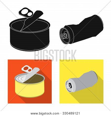 Vector Design Of Refuse And Junk Logo. Collection Of Refuse And Waste Stock Symbol For Web.