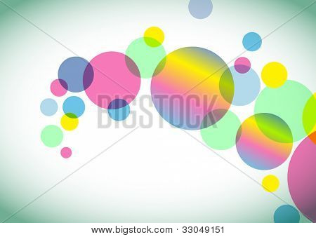 Abstract colorful circles background - EPS VECTOR format also available in my portfolio.