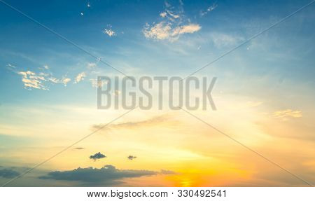 World Environment Day Concept: Panoramic Evening Sky Background