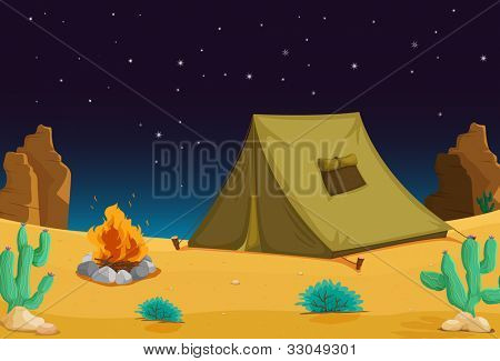 Camping under the night sky - EPS VECTOR format also available in my portfolio.