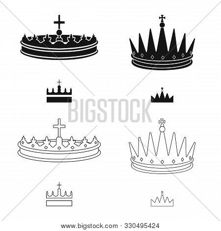 Vector Illustration Of Medieval And Nobility Sign. Collection Of Medieval And Monarchy Stock Vector