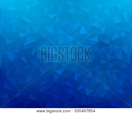 Modern Dark Blue Abstract Textured Polygonal Mosaic Background. Geometric Texture Background In Orig