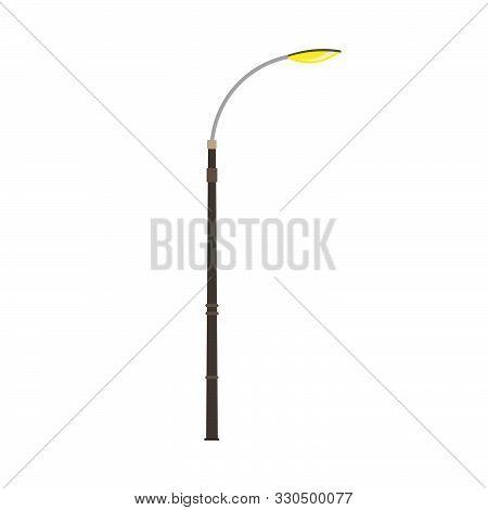 Lamppost Electric Architecture Symbol Art Equipment Decoration Power Bulb Exterior. Dark Light Eleme