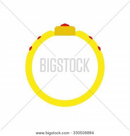 Ring Circle Vector Gold Illustration Icon Sign Engagement Design Symbol Wedding. Round Jewellery Gem