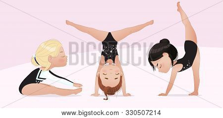Gymnastics Kids Vector Photo Free Trial Bigstock
