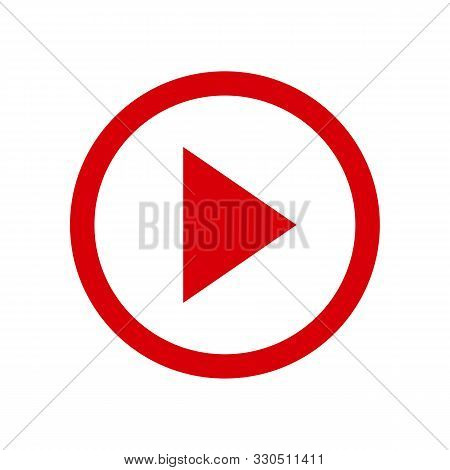 Play Video Button Icon In Two Color Design Style. Play Video Button Vector Icon Modern And Trendy Fl