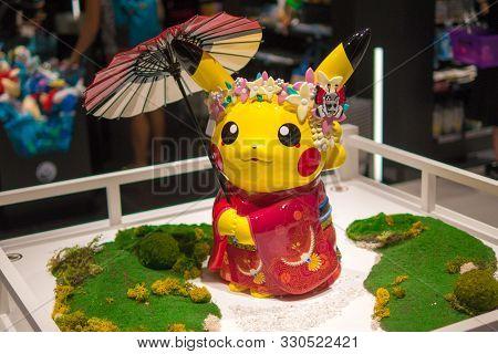 Pikachu, Pokemon Statue In Pokemon Store, Kyoto, Japan, 3 August 2019