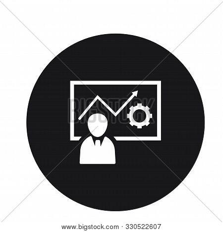 Lecture Presentation Statistics Icon Design For Web