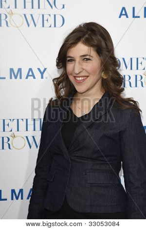 LOS ANGELES - MAY 3: Mayim Bialik at the world premiere of 'Something Borrowed' at the Grauman's Chinese Theater in Los Angeles, California on May 3, 2011