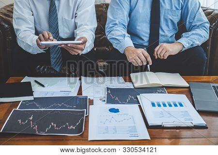 Businessman Investor On Meeting Having Planning And Analyzing Of Partner Cooperation In Investment T