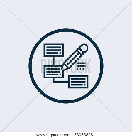 Plan Icon Isolated On White Background From Science Collection. Plan Icon Trendy And Modern Plan Sym