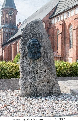 Kaliningrad, Russia - August 4, 2019: Monument To Julius Rupp. Julius Friedrich Leopold Rupp Was A P
