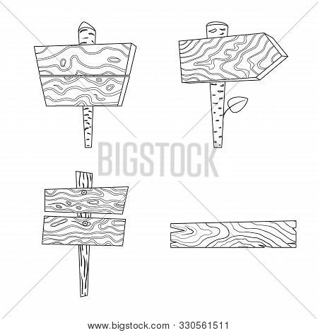 Isolated Object Of Hardwood And Material Symbol. Set Of Hardwood And Wood Stock Symbol For Web.