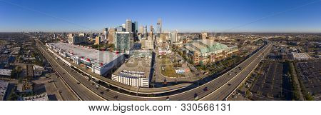 Houston, Usa - Dec. 15, 2018: Houston Modern City Panorama Aerial View Including George Brown Conven
