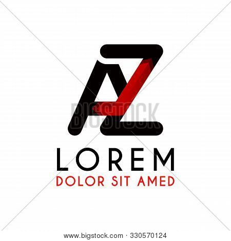 Az Letter Black Logo With Gradient Arrow