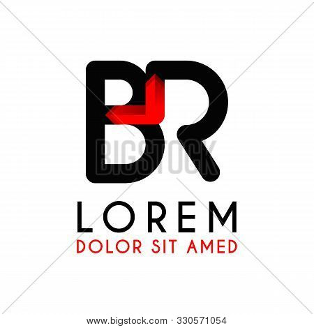Br Letter Black Logo With Gradient Arrow