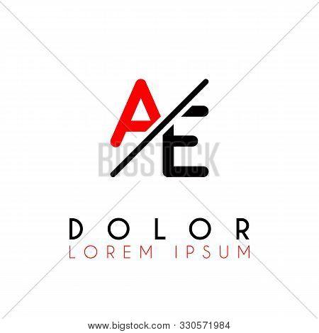 Logo A Slash E With Black Red