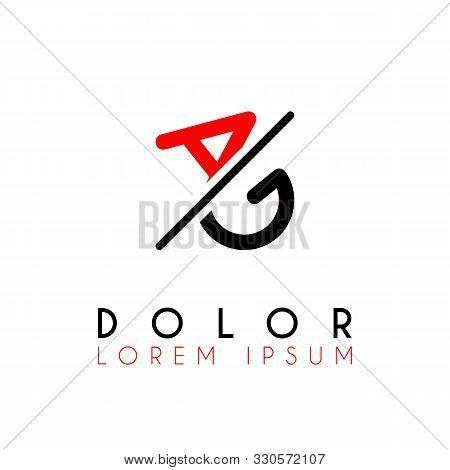 Logo A Slash G With Black Red