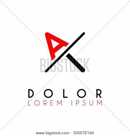 Logo A Slash I With Black Red