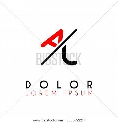 Logo A Slash J With Black Red