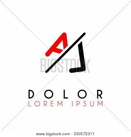 Logo A Slash L With Black Red