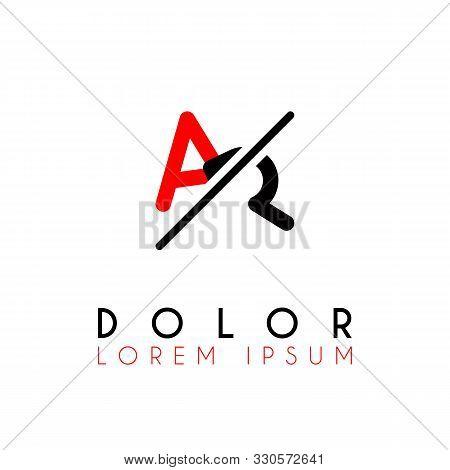Logo A Slash R With Black Red
