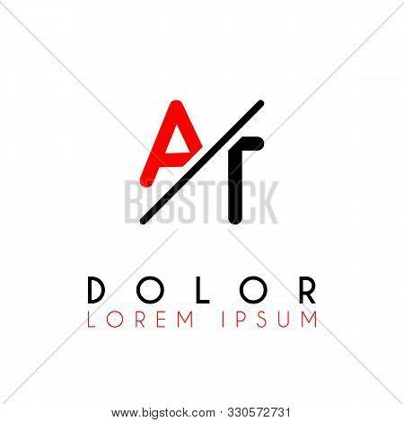 Logo A Slash T With Black Red