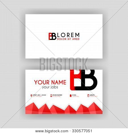 Simple Business Card With Initial Letter Bb Rounded Edges. Bb Logo Can Be Used For Marketing, Advert