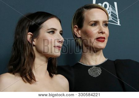 LOS ANGELES - OCT 26:  Emma Roberts, Sarah Paulsen at the