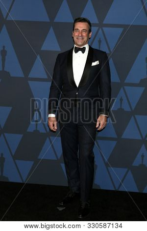 LOS ANGELES - OCT 27:  Jon Hamm at the 11th Annual Governors Awards at the Dolby Theater on October 27, 2019 in Los Angeles, CA