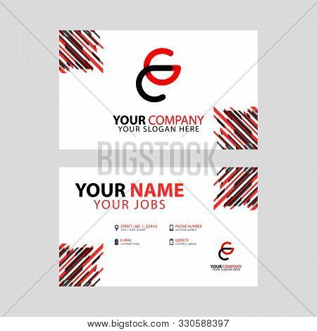 The Cg Logo Letter With Box Decoration On The Edge, And A Bonus Business Card With A Modern And Hori
