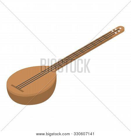 Turkish Musical Instrument Icon. Isometric Of Turkish Musical Instrument Vector Icon For Web Design