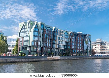 Kaliningrad, Russia - August 4, 2019: Holiday Inn Hotel In Kaliningrad. Holiday Inn Is American Hote