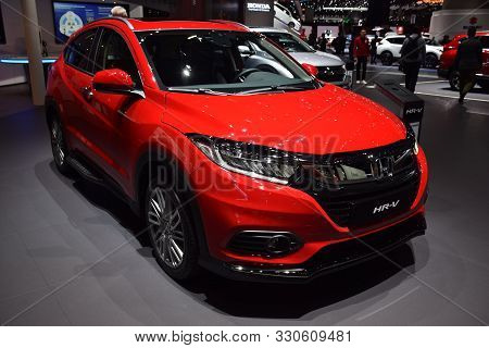 Geneva, Switzerland - March 05, 2019: Honda Hr-v - Geneva International Motor Show 2019