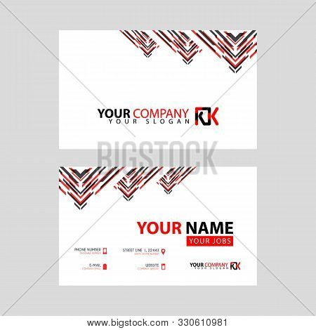 The New Simple Business Card Is Red Black With The Kk Logo Letter Bonus And Horizontal Modern Clean