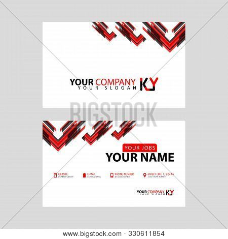 The New Simple Business Card Is Red Black With The Ky Logo Letter Bonus And Horizontal Modern Clean