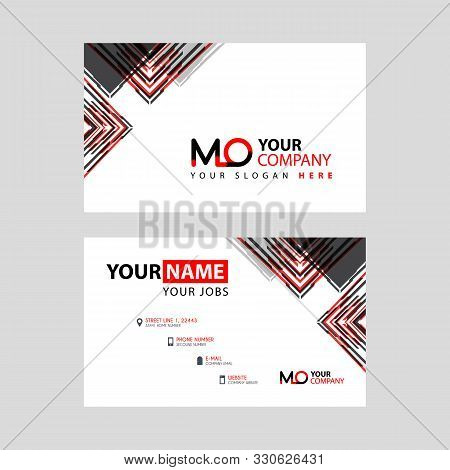 The Mo Logo Letter With Box Decoration On The Edge, And A Bonus Business Card With A Modern And Hori