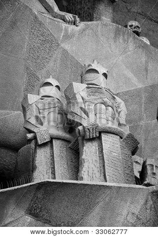 Roman soldiers sculpture at Sagrada Familia