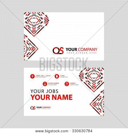 Letter Os Logo In Black Which Is Included In A Name Card Or Simple Business Card With A Horizontal T