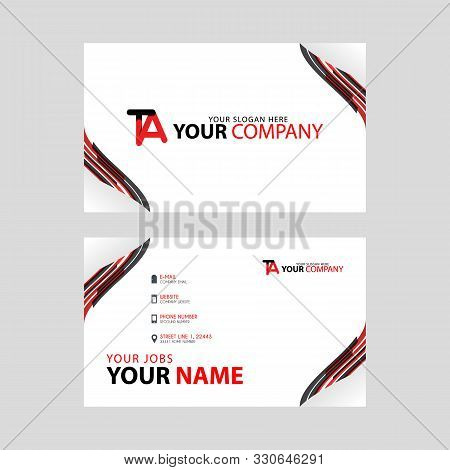 The Ta Logo On The Red Black Business Card With A Modern Design Is Horizontal And Clean. And Transpa