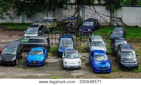 Kota Kinabalu,sabah-june 1,2019:the Malaysian Road Transport Department  Has Seized Cars Following A