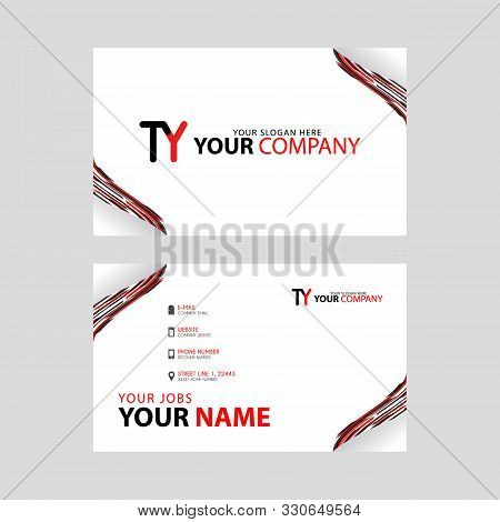 The Ty Logo On The Red Black Business Card With A Modern Design Is Horizontal And Clean. And Transpa