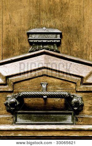 Macro Wooden Front Door & Ironmongery