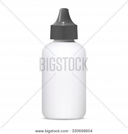 Eye Dropper Bottle. Medical Nasal Spray 3d Blank. Small Plastic Dispenser For Medicine Remedy. E Liq