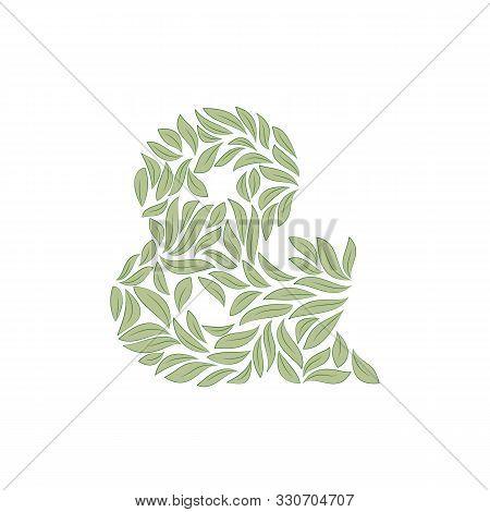 Ornamental Ampersand Isolated On White Background On White. Vector Illustration