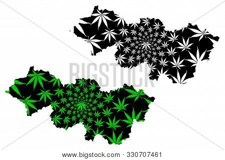 Cao Bang Province (socialist Republic Of Vietnam, Subdivisions Of Vietnam) Map Is Designed Cannabis