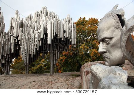 Helsinki, Finland - October 07, 2019: Sibelius Monument In Sibelius Park. Its A Monument Of The Finn