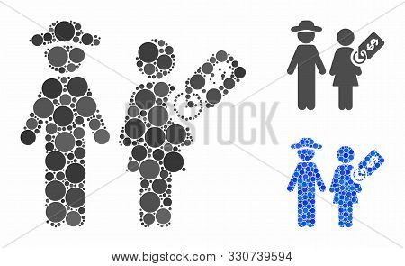 Marriage Of Convenience Mosaic Of Small Circles In Different Sizes And Shades, Based On Marriage Of