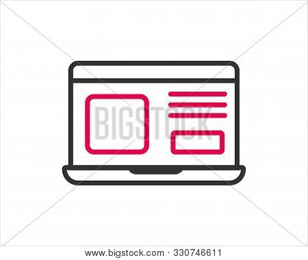 Computer Laptop Icon Vector Illustration For Web